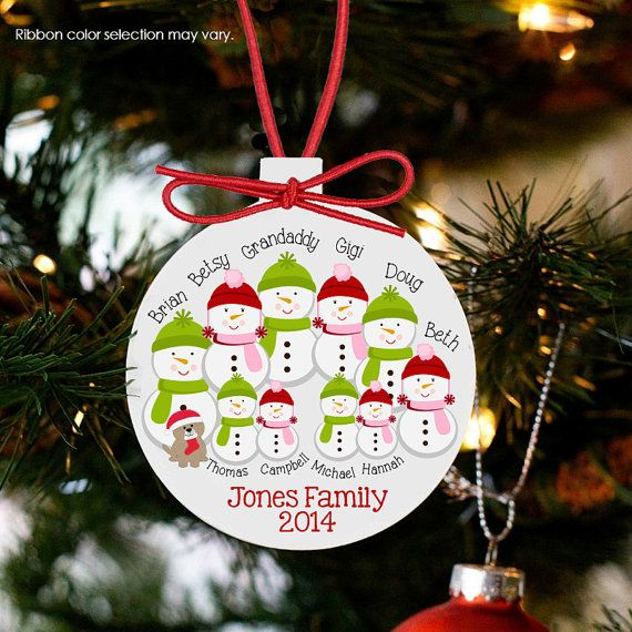 Personalized Family Ornament Snowman Large Family By Ornamentstop Our First Christmas Ornament First Christmas Ornament Grandpa Christmas Ornament