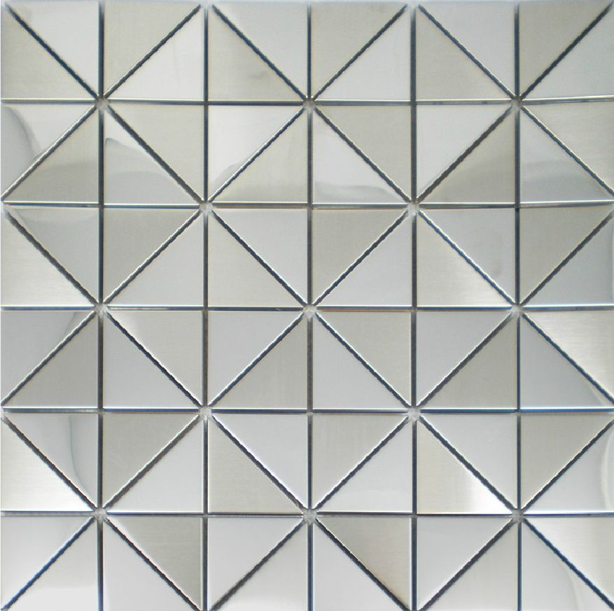 Mirror Tiles For Wall gold metal mosaic tile smmt036 strip stainless steel metallic