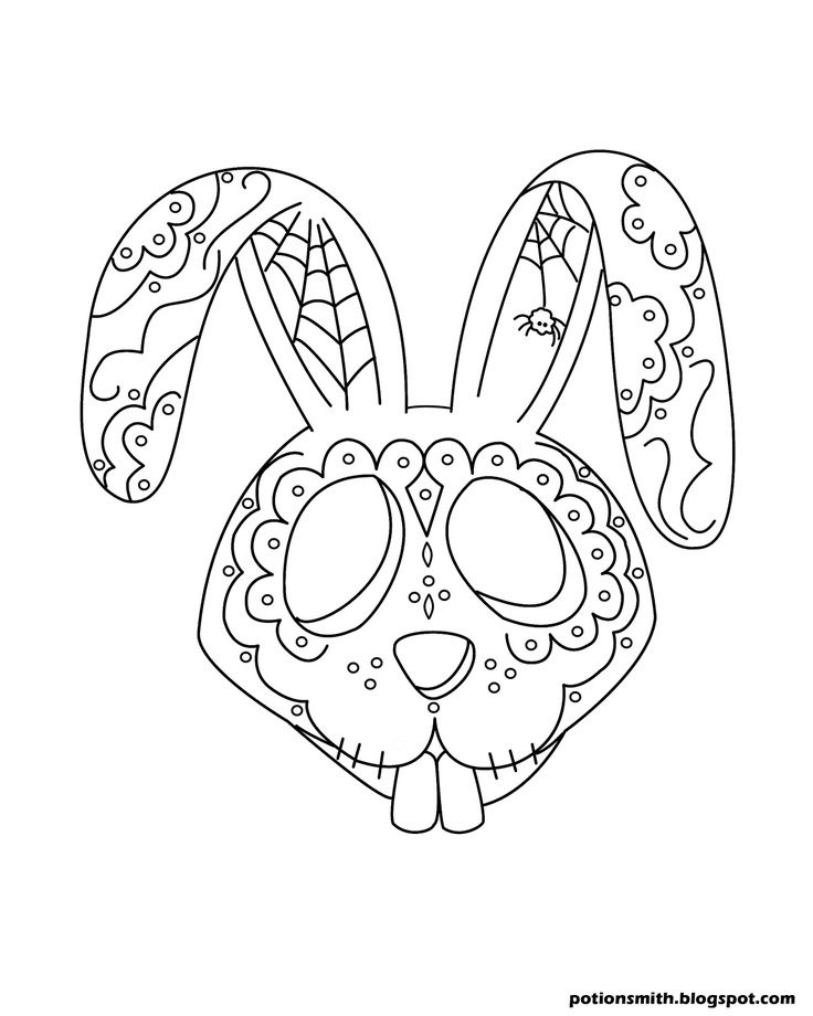 Pin by Nona Pelmonter on coloring pages | Bunny coloring ...