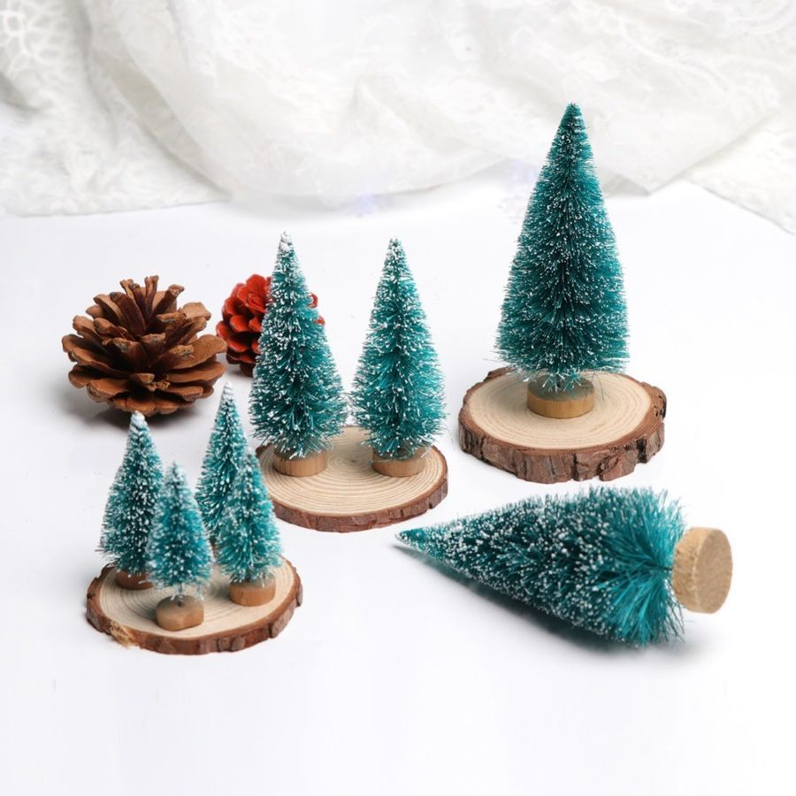 15pcs Artificial Mini Christmas Tree Pine Trees Kid Gifts Desktop Diy Home Decor Christmas Tree Pine Mini Christmas Tree Diy Home Decor Home Diy