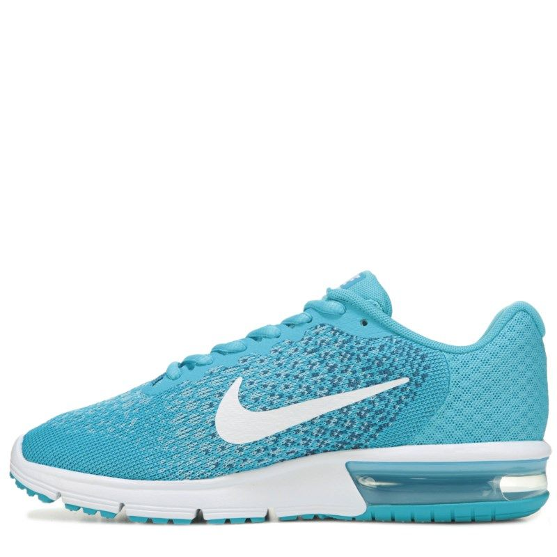 Nike Women's Air Max Sequent 2 Running Shoes (Blue/White) - 8.0 M