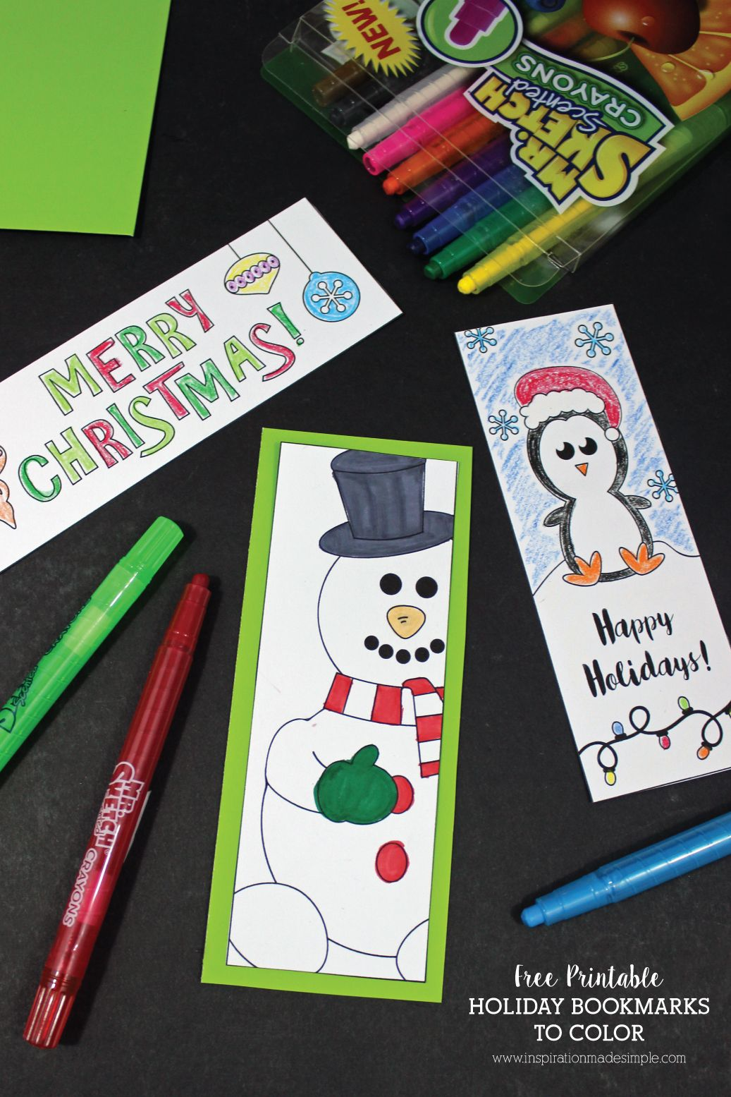 Printable Holiday Bookmarks to Color | Kid Blogger Network ...