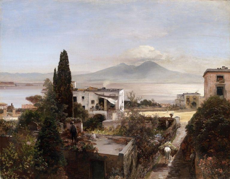 Oswald Achenbach Works Plein Air Landscape Oil Painting Landscape Art Pictures