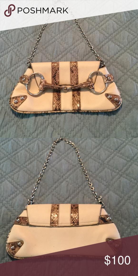 Snake skin tan Store brand Saks fifth avenue Bags Shoulder Bags