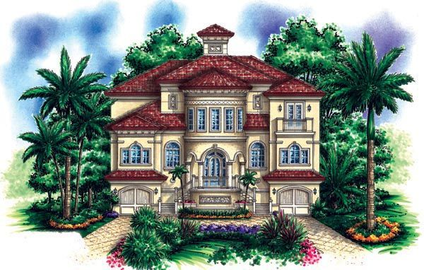 Florida Mediterranean House Plan 60492 | House Plans | Pinterest