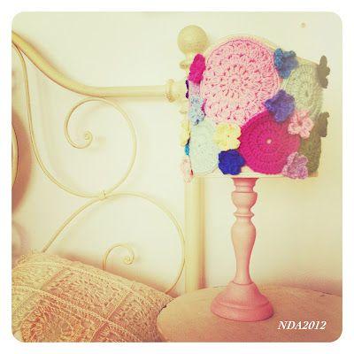 Crochet. Spring lamp