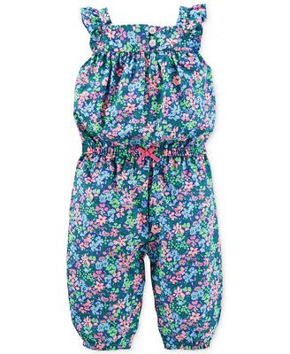 3d64fd09c Carter's Baby Girls' Floral Jumpsuit | My kids fashion | Carters ...