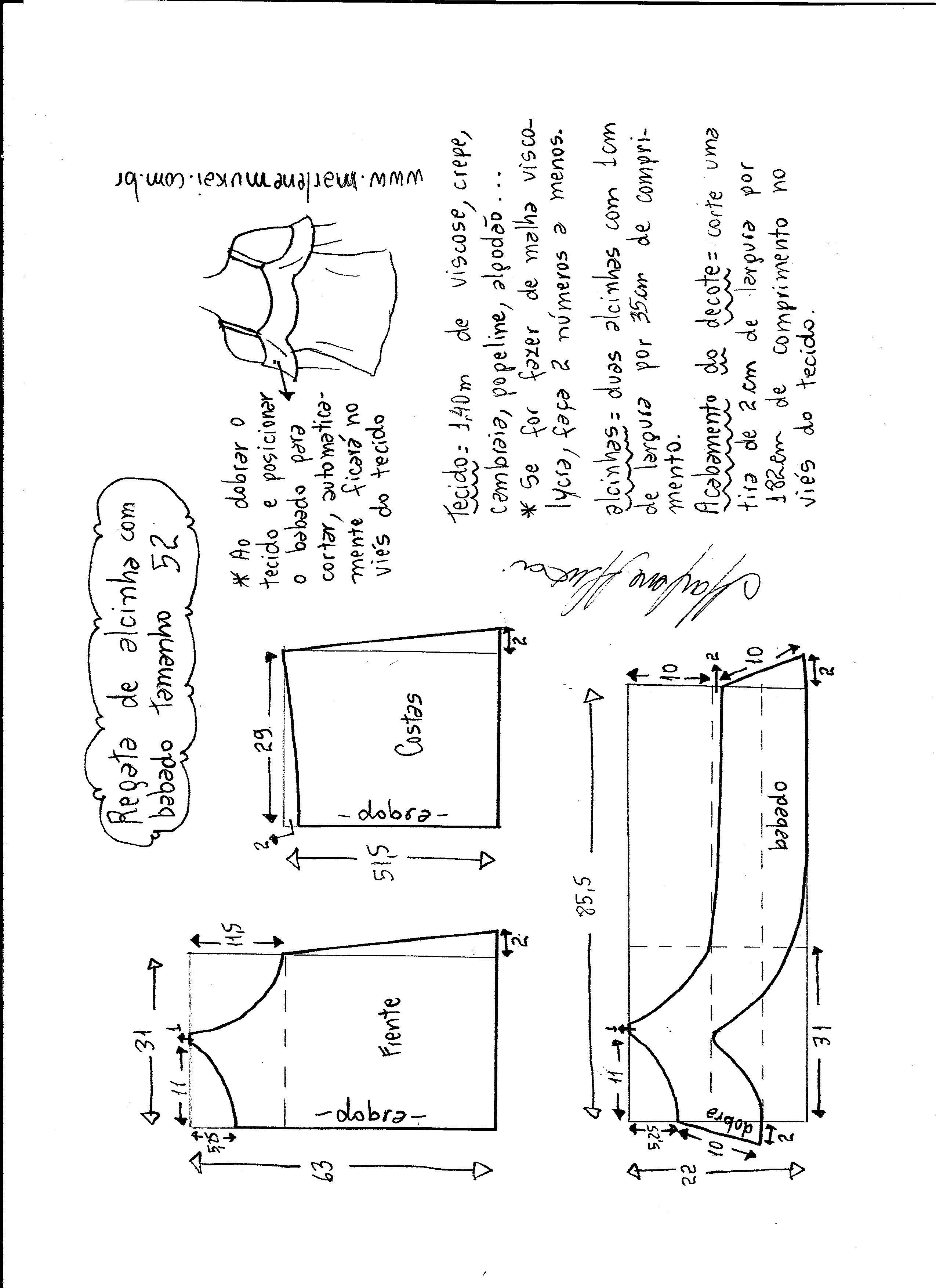 Patrón Blusa hombros descubiertos con volante | Costura | Pinterest ...