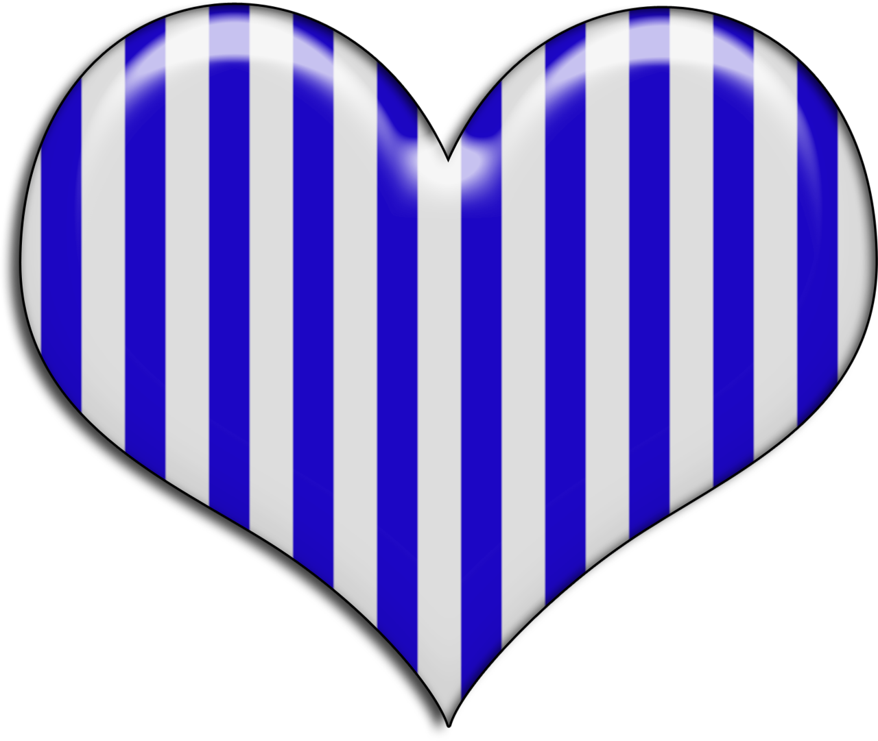 medium resolution of a blue and white striped heart