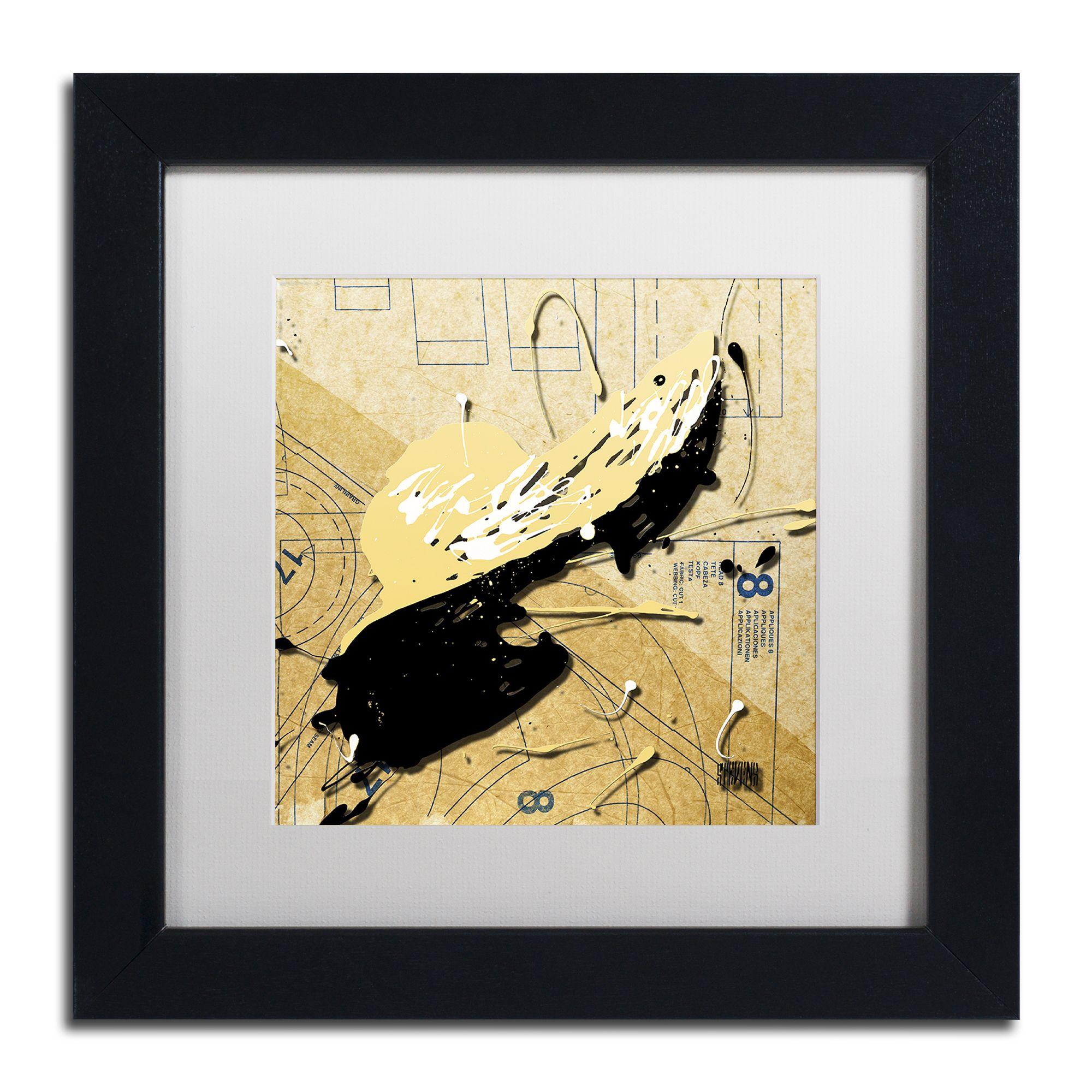 Roderick Stevens \'Beige Floppy\' White Matte, Framed Wall Art ...