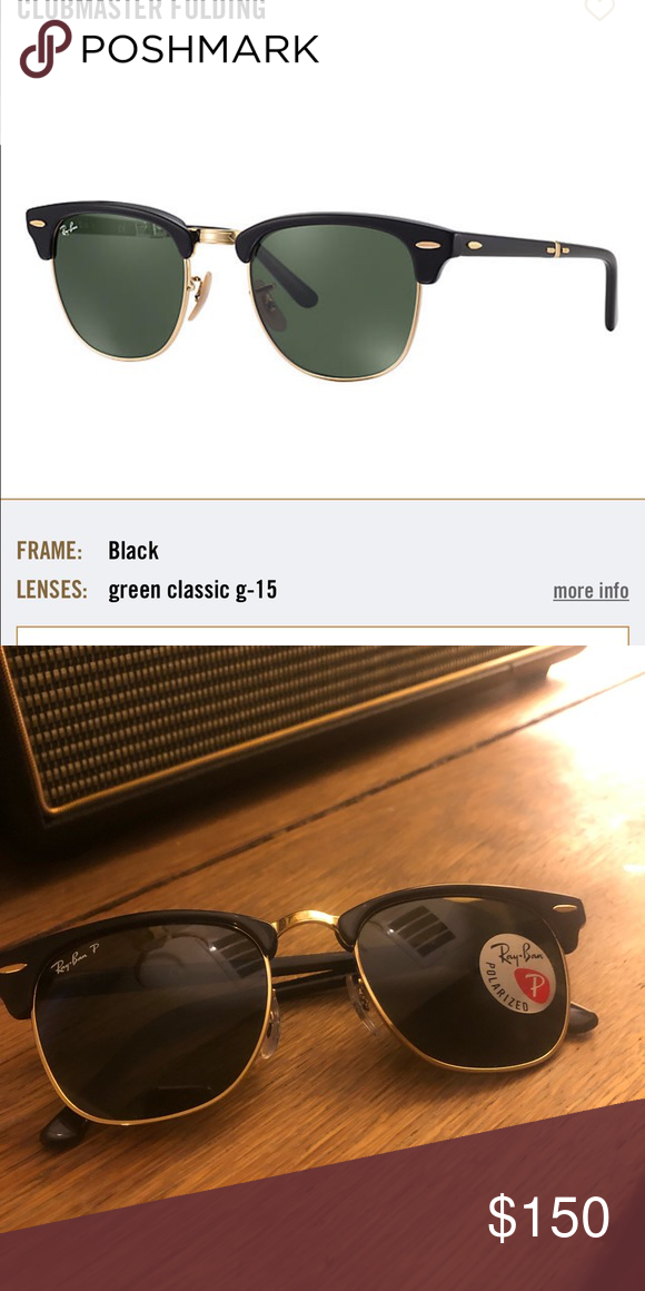 fa2121a26a05a Brand new Ray Bans Ray-Ban Clubmaster Folding sunglasses combine  unmistakable retro style with a new functional design. This foldable  version of the ...