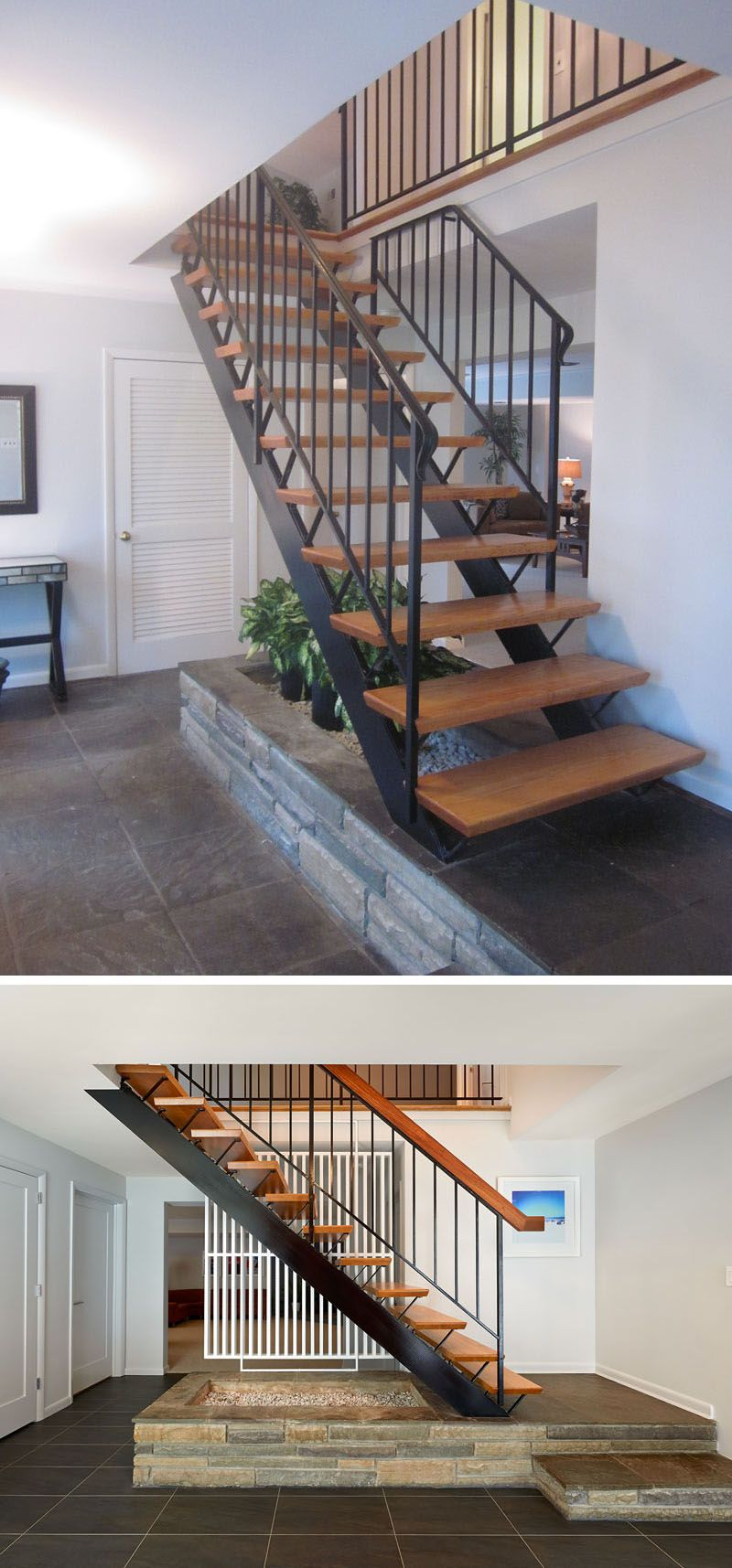 Before After This Staircase Leading To The Second Floor Of The | Second Floor Stairs Design | Floor Plan | Hall | 1St Floor Veranda | Outside | Most Beautiful