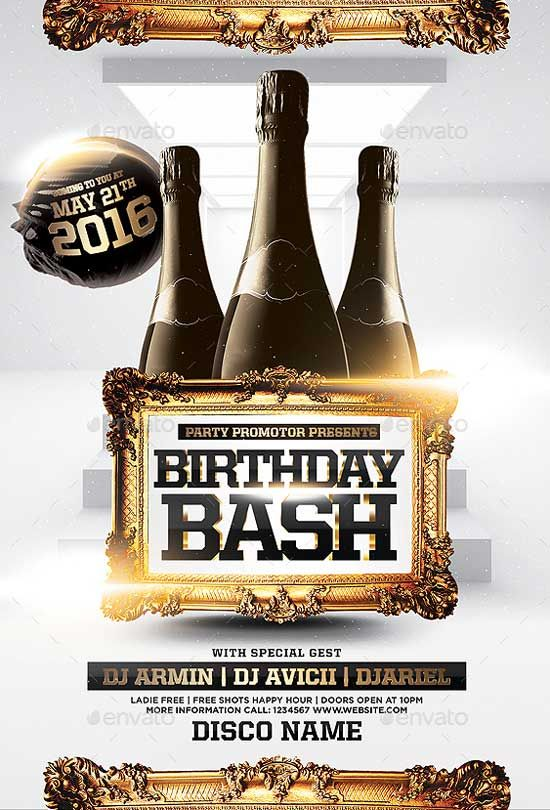 Birthday Bash Party Flyer Template - http\/\/ffflyer\/birthday - birthday flyer template