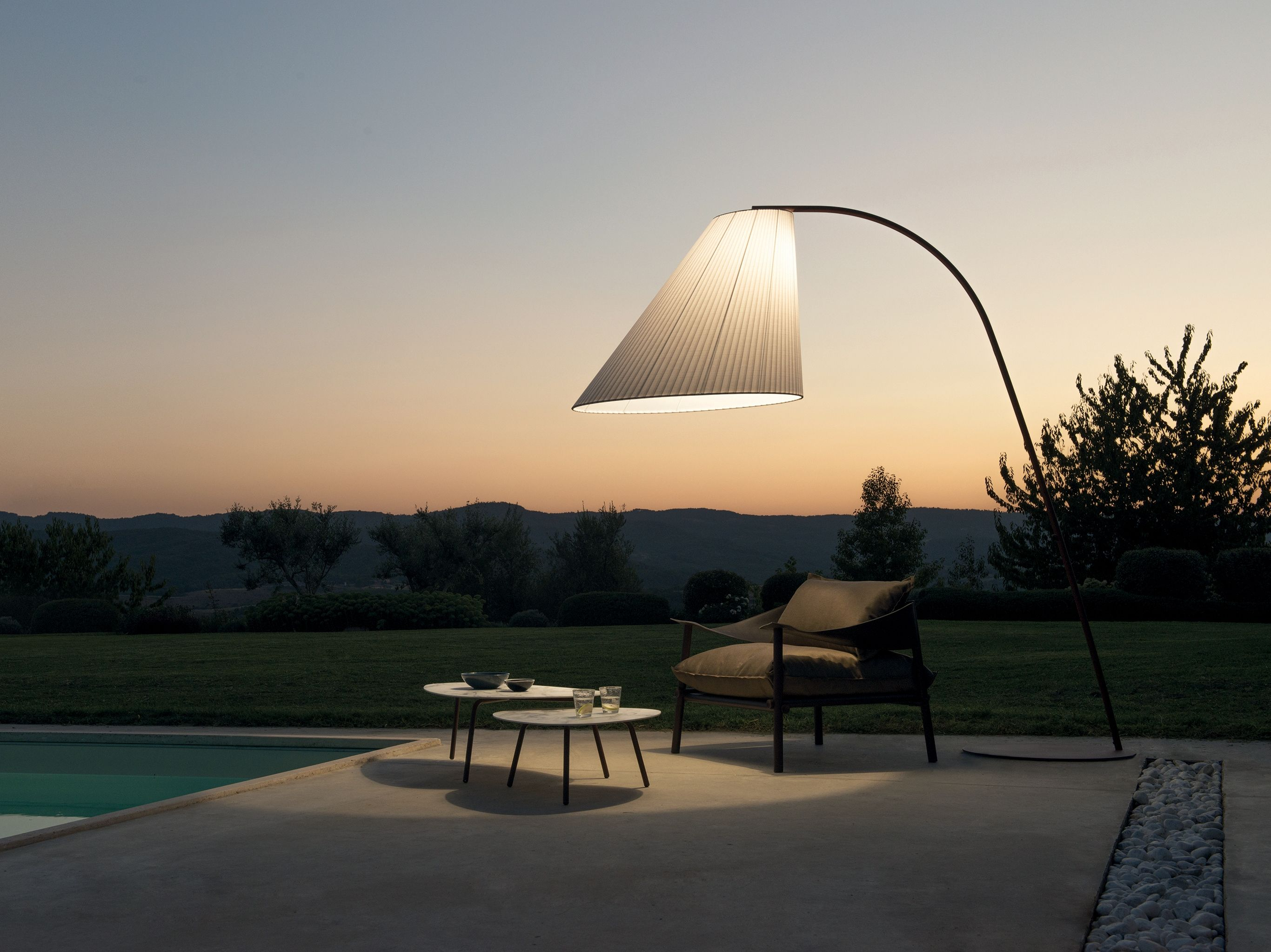 Cone Outdoor Arc Lamp Cone Collection By Emu Design Chiaramonte Marin Outdoor Floor Lamps Outdoor Lamp Arc Lamp