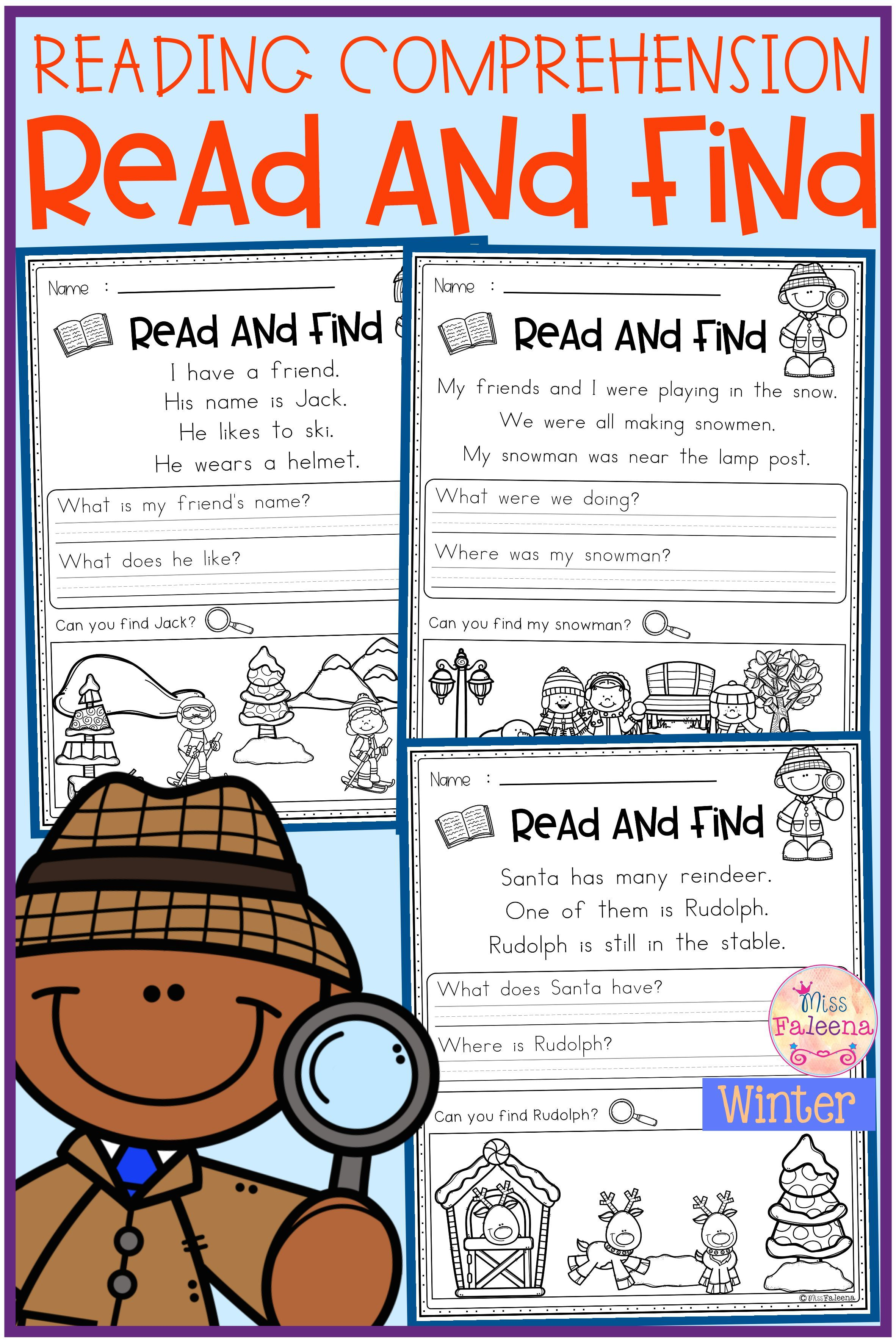 Winter Reading Comprehension Read And Find Reading Comprehension Reading Comprehension Worksheets Comprehension [ 3544 x 2364 Pixel ]