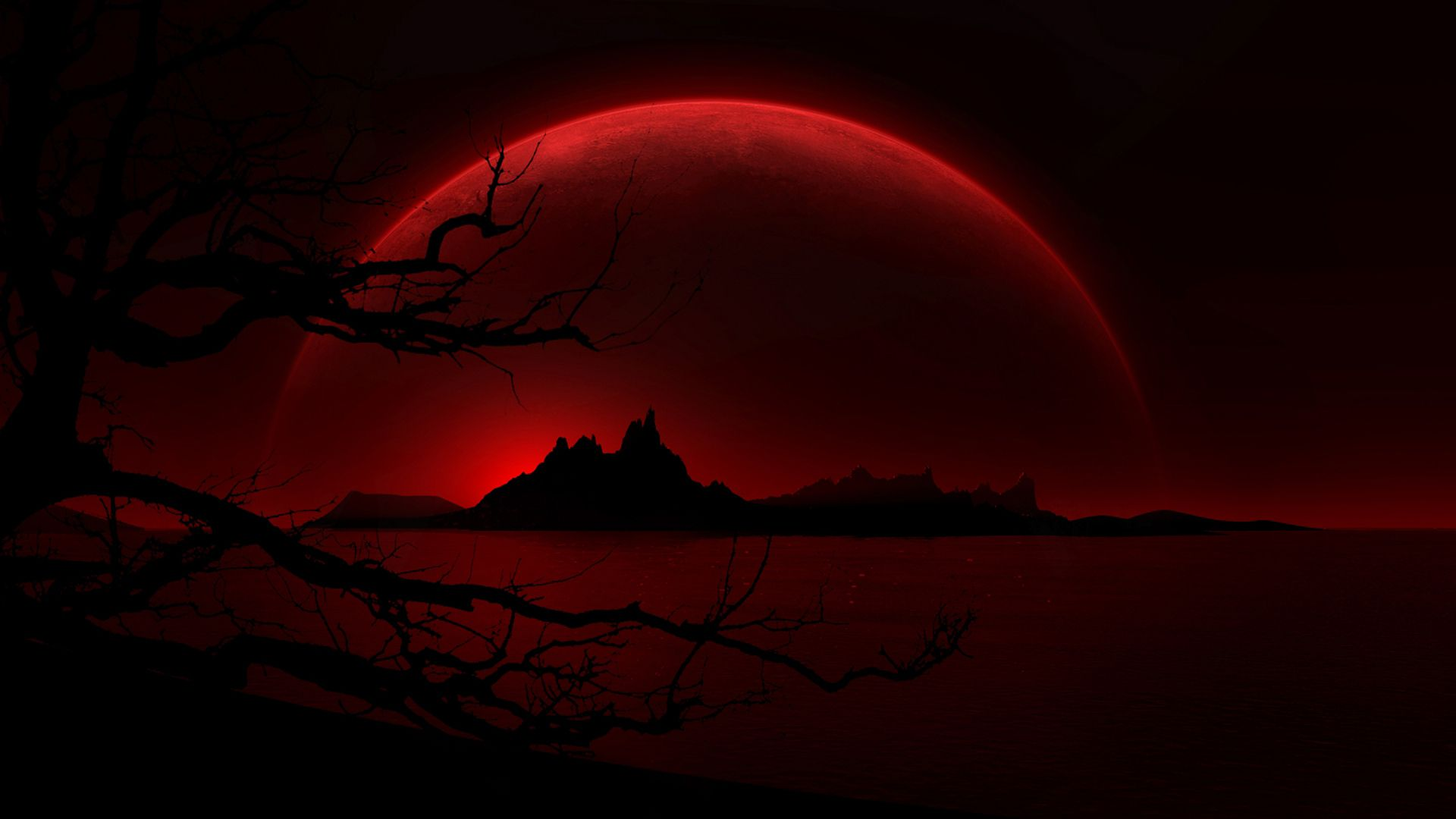 blood-red-moon-hd-wallpaper-341068.jpg (1920?1080) ? Mystery Anime Wallpapers ? Pinterest ...