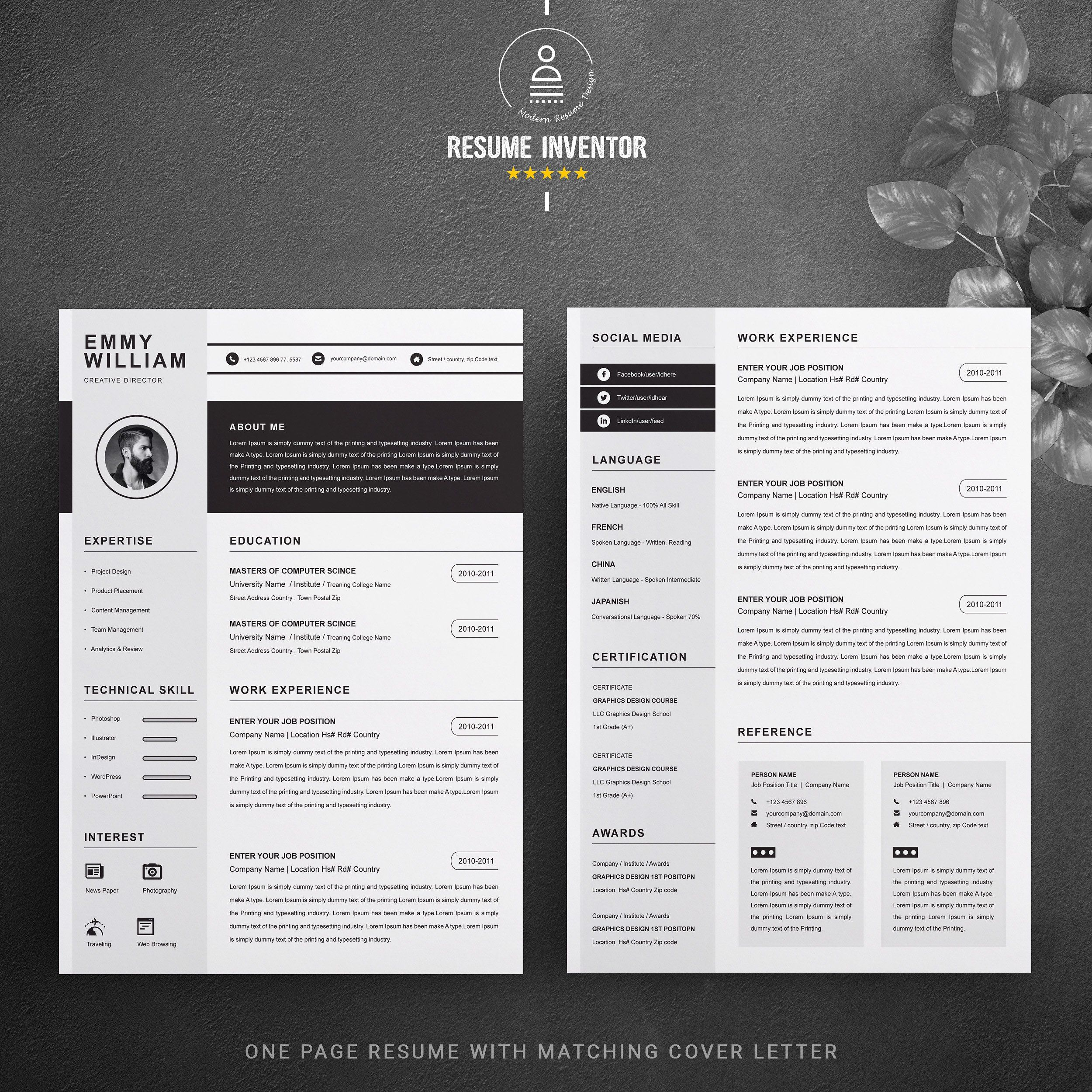 resume    cv template  amp titles color body