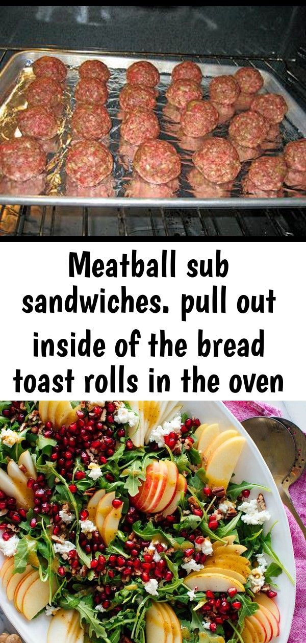Meatball sub sandwiches pull out inside of the bread toast rolls in the oven with garlic butter a 4 Meatball Sub Sandwiches Pull out inside of the bread Toast rolls in th...