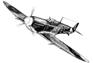 Spitfire Pencil on paper (A3) A pencil sketch of a