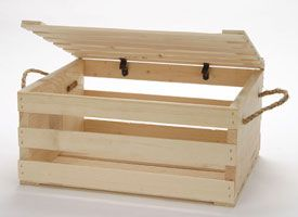 small wood crate with rope and lid - Small Wooden Crates