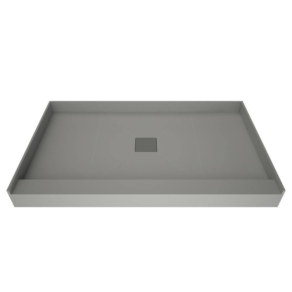 Tile Redi 37 In X 72 In Single Threshold Shower Base With Center