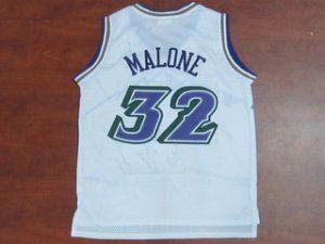 Utah Jazz Cheap NBA  32 White Soul Karl Malone Swingman Jersey  F816 ... 9e78e6099