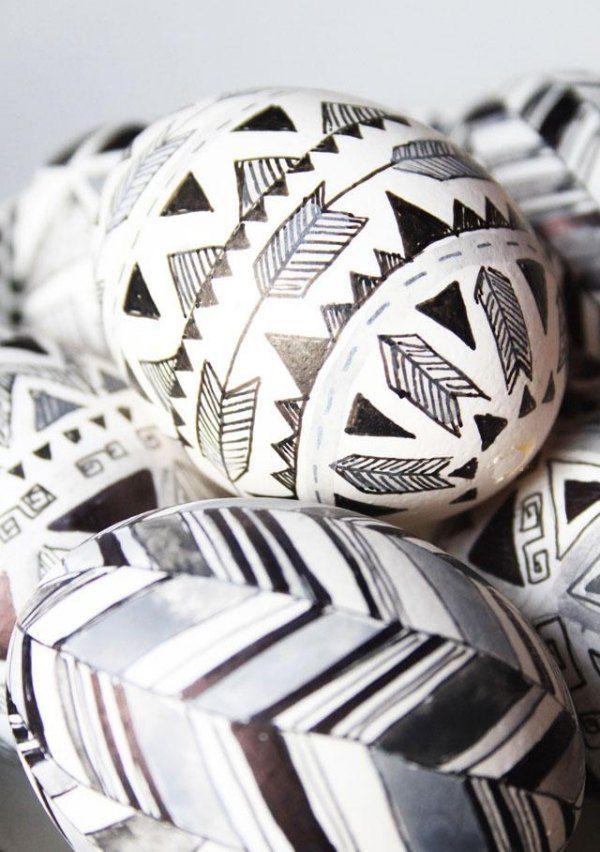 Abstrakte Zeichnung-auf-Osterei-design ideen 2014-trend