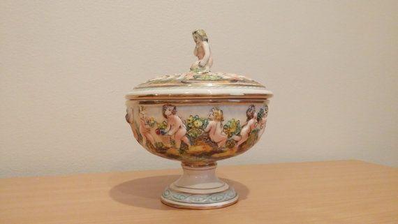 Vintage Capodimonte Porcelain Cherubs by MotownLostandFound