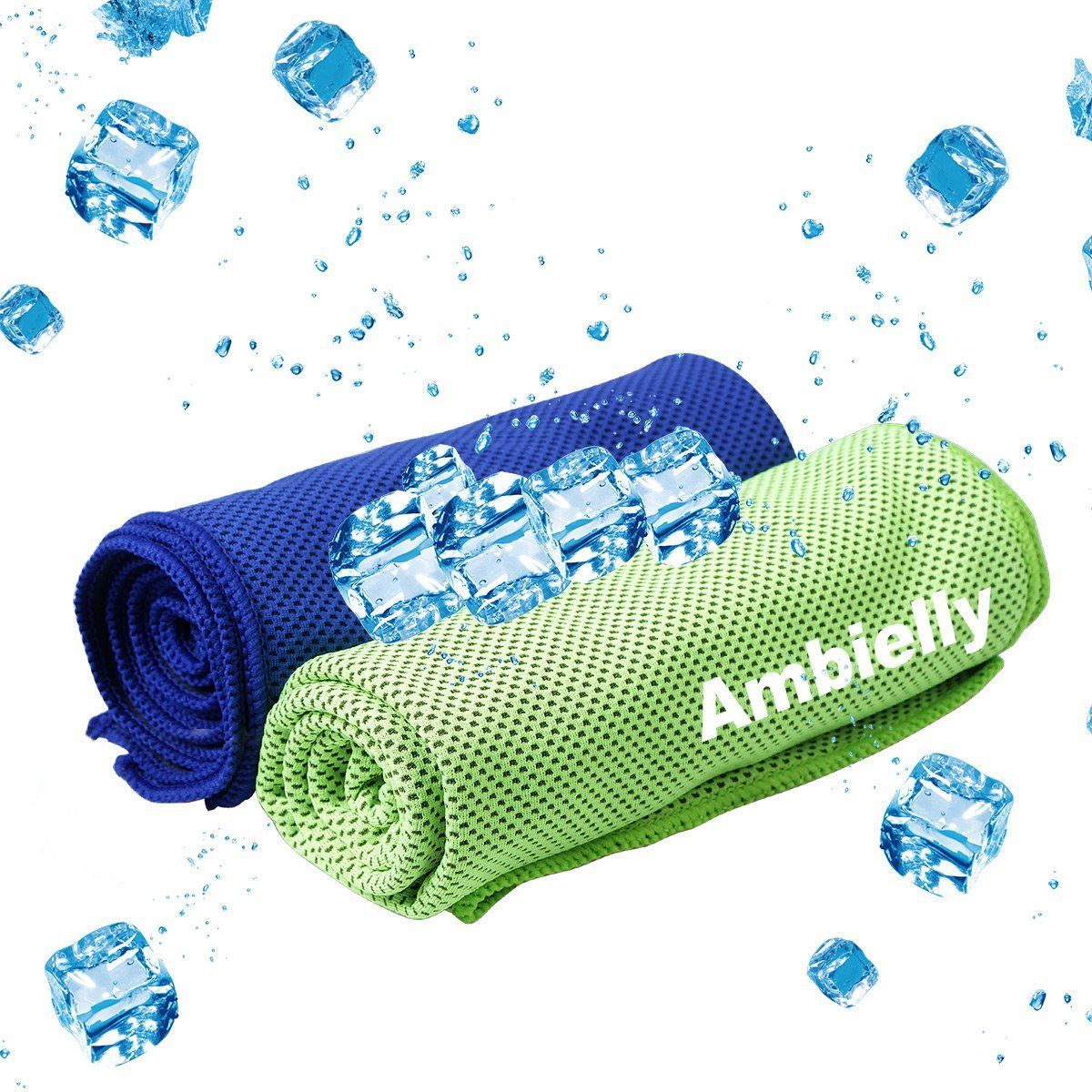 Ambielly Cooling Towel For Instant Relief 2 Pack 40 X12 Stay