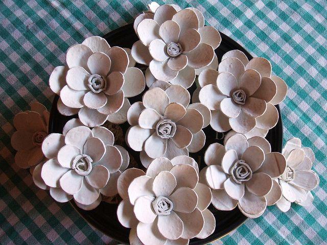 Flores De Caixa De Ovo Caixas De Ovos Arte Com Caixas De Ovos E