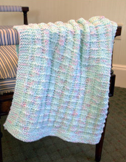 ad79015e5 Textured Baby Blanket Free Knitting Pattern