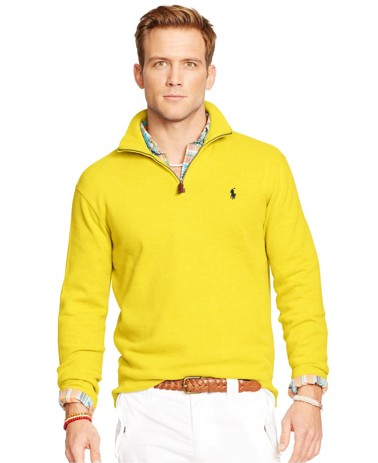 Polo Ralph Lauren French-Rib Half-Zip Pullover - Sweaters - Men ...