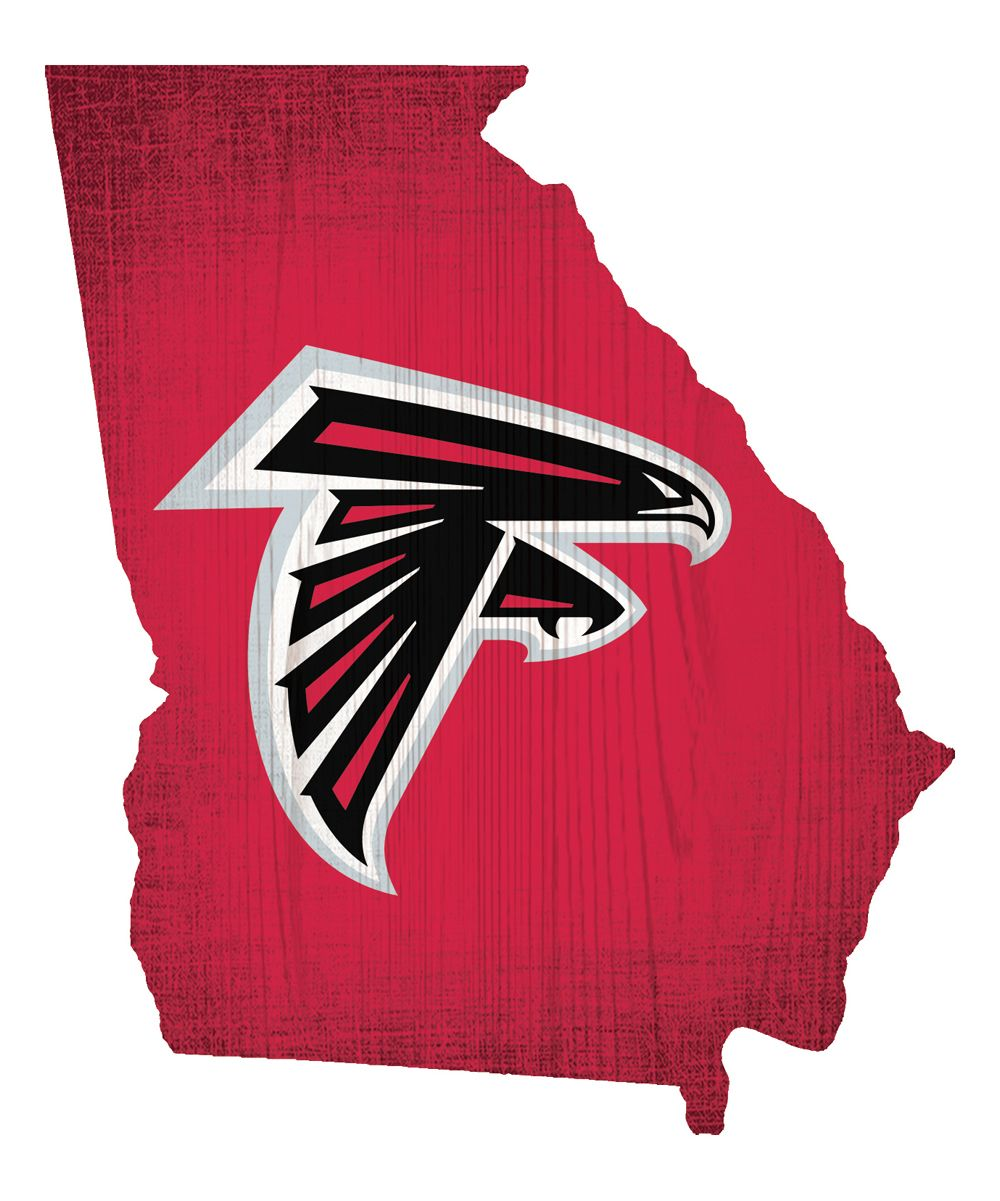Atlanta Falcons Team Color Logo State Wall Sign Atlanta Falcons Football Atlanta Falcons Falcons Football