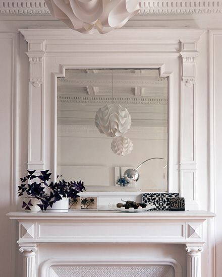 Fake Fireplace Tropical Bathroom Mirrors And Modern: Love The Fireplace And The Crown Molding On The Ceiling