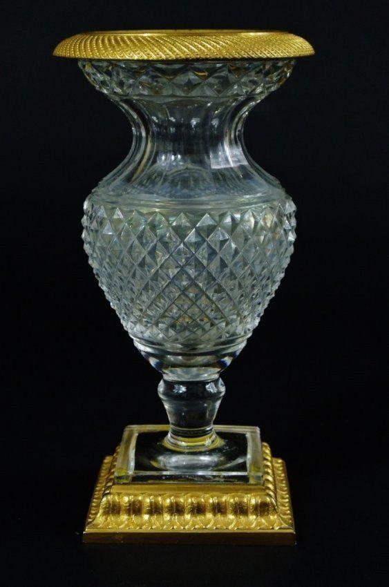 Baccarat Cut Crystal And Ormolu Vase On Art Glass Pinterest