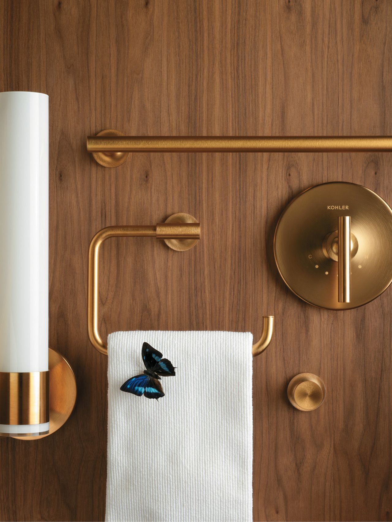 bold ideas from kohler nothing elevates a bathroom quite like the purist accessories in gleaming shimmering gold - Bathroom Accessories Kohler