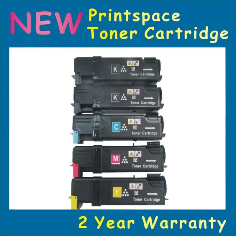 5x Non Oem Toner Cartridges Compatible For Fuji Xerox Phaser 6500