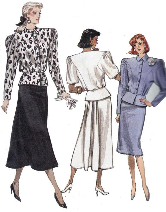 2fdd20c313859b 80s Vintage Sewing Pattern Vogue 7011. I had this pattern.. Lol Shelia  Tucker sewed it for me.. Them was the days!!