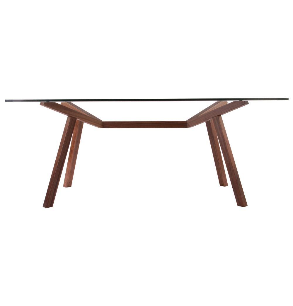 Original Design Sean Dix Forte Dining Table Glass Matt Blatt