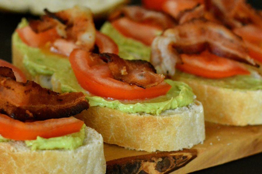 Bacon, Avocado and Tomato Sliders