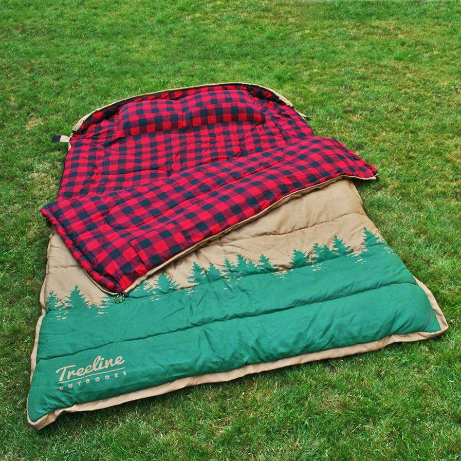 The Simple Man 2 Person Canvas Sleeping Bag Treeline Outdoors