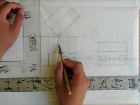Elevation Perspective Conversion Part 4 Of 4 Perspective Drawing Perspective Architecture Presentation Board