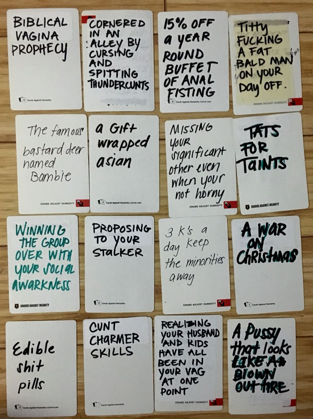 awesome ideas for white blank cards in cards of humanity