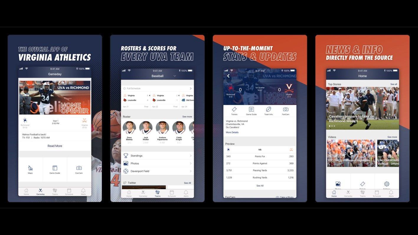 UVA Athletics Launches New Mobile App New mobile, Mobile