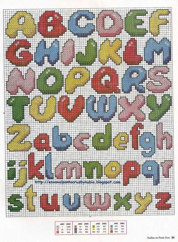 Pin De Leann Smith Em Cross Stitch Alphabet Ponto Cruz