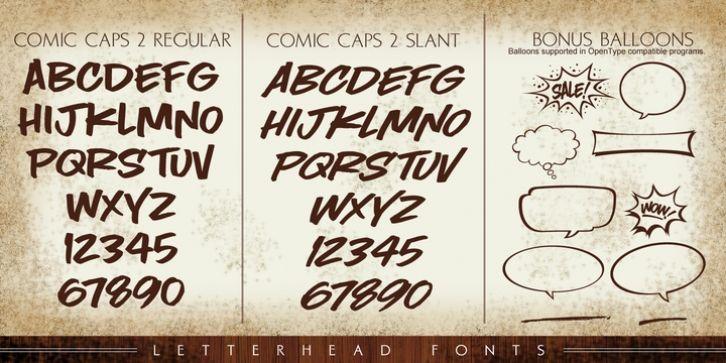 LHF Comic Caps 2™ font download