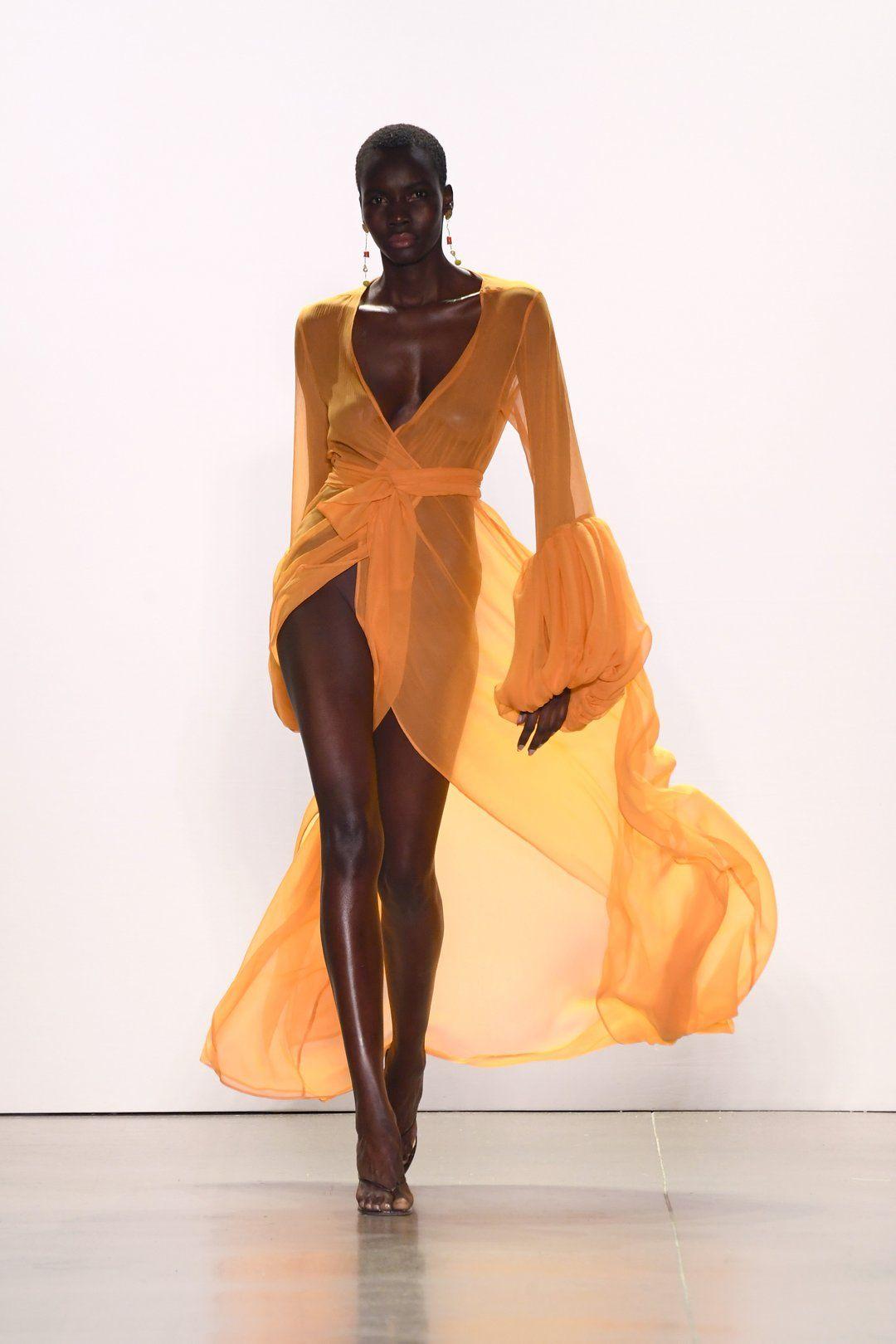 Photo of Silk Sundown Wrap Dress
