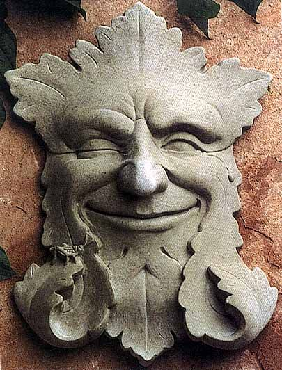 Charmant Garden Smile Stone Sculpture Face Plaque