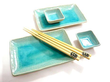 Cool Water Teal \u2013 Japanese Sushi Dinnerware Set  sc 1 th 194 & Cool Water Teal \u2013 Japanese Sushi Dinnerware Set | Dishes ...