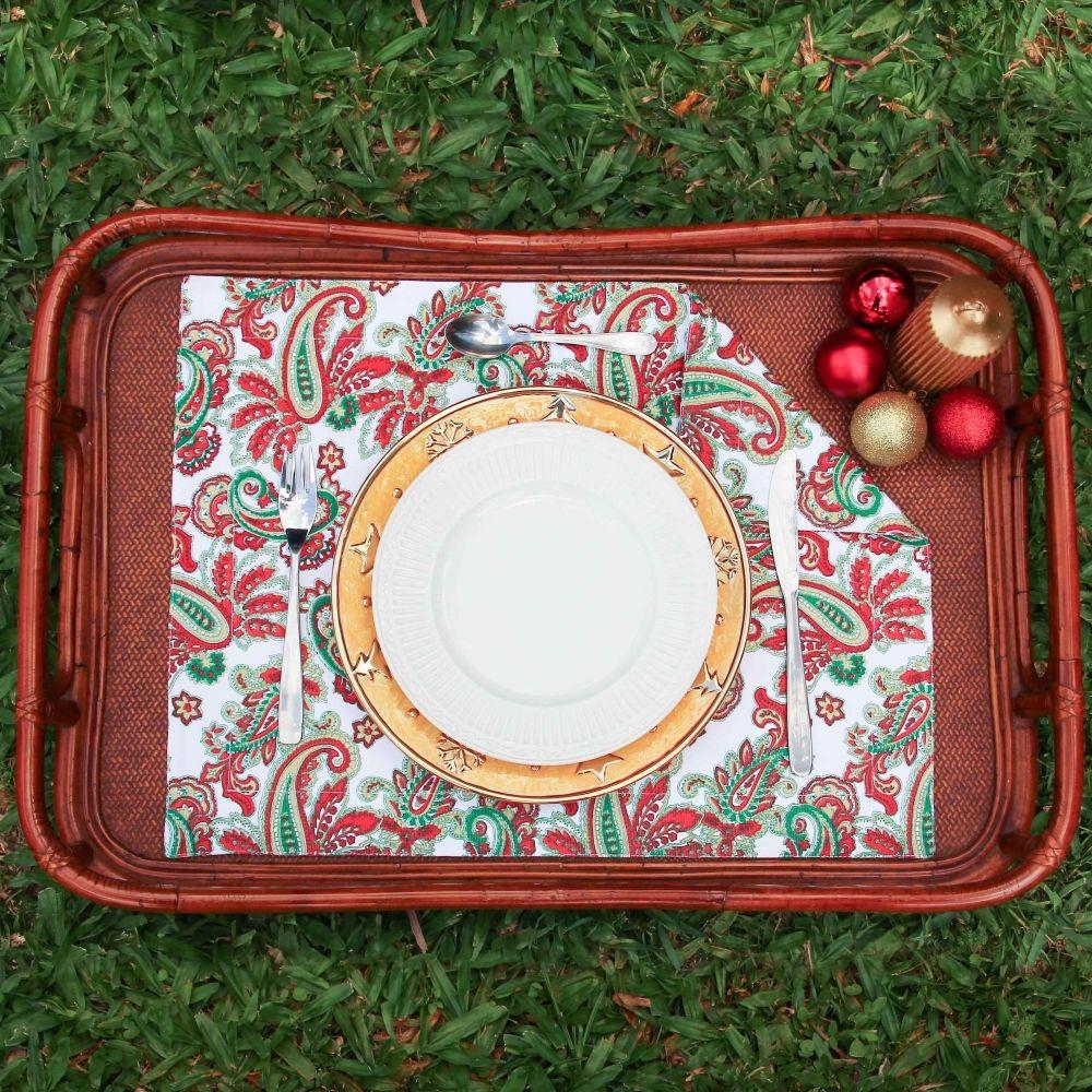 Individual doble faz colección Navidad 2015